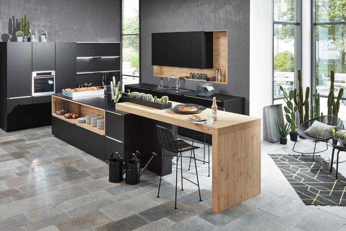 Kche schwarz matt  Nolte Küchen bei Küchen Janz in Schönkirchen/Kiel