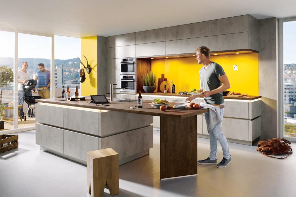 Schueller Küche Betonoptik